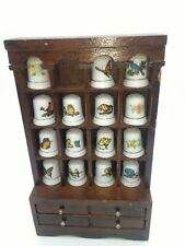 Thimbles with display cabinet trinket box butterflies