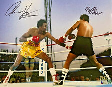 Tommy Hearns Roberto Duran Dual Signed 11 x 14 Photo Autographed Beckett BAS