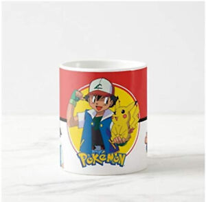 Pokemon Pikachu Ash Ketchum Mug Cup Present Novelty Gift