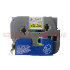 TZ-S661 Sticky Black on Yellow Label Tape 36mm 8m Compatible to Brother TZe-S661