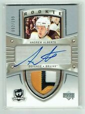 05-06 UD Upper Deck The Cup  Andrew Alberts  /199  Auto  Patch  Rookie