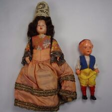 French Celluloid Doll and Boy Celluloid Doll Regional Costume