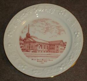 VINTAGE HOMER LAUGHLIN PLATE, WILLARD STREET METHODIST CHURCH, OTTUMWA, IA, 1950