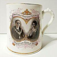"""1922 Preston guild W kilner stanley china Cup mug tankard H 3.5"""""""