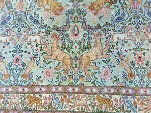 Persischer Seidenteppich Jagd Szene Ghom Qum Rug Silk Hunting 250*220 cm