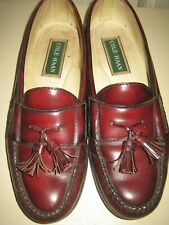 COLE HAAN TASSLE PINCH LOAFERS - Men's 9 M Burgundy Leather EUC!
