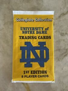 Univ. of Notre Dame Collegiate Collection Trading Cards (8) 1st Edition 1 pack