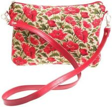 BELGIAN TAPESTRY EVENING STYLE BAG 23CM X 16CM, SMALL POPPIES 10223-17 DESIGN