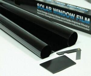 50% Sonnenschutzfolie Licht SCHWARZ Scheibentönung Rolle 3m x 75 cm Folie Tönung