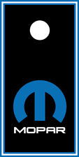 SINGLE- Cornhole Board- Bag Toss wrap - VINYL DECAL- MOPAR BLACK