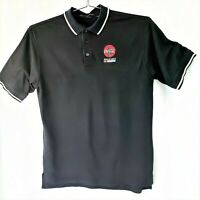 Coca-Cola Nascar Polo Style Shirt Dunbrooke Moisture Management Black XL