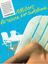 Publicité Advertising 028  1985   Allibert  meubles jardin plastique résine synt