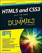 HTML5 and CSS3 All-in-One for Dummies, Harris 9781118289389 Free Shipping-,