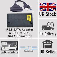 Sony PlayStation2 PS2 SATA Hard Drive Adaptor Adapter and USB Connector Combo