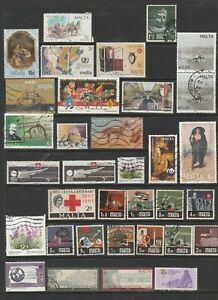 MALTA Nice Mixed selection of Stamps Very Fine Used