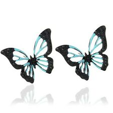 Trendy Jewelry Full Rhinestone Butterfly Stud Earring for Women Gift