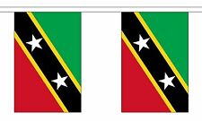 ST KITTS AND & NEVIS 3 METRE BUNTING 10 FLAGS flag 3M CARIBBEAN