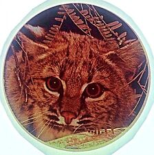 Original Vintage Stripe Cat Head Iron On Transfer