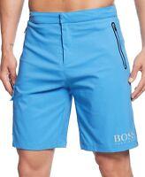 NWT Hugo Boss Black Label By Hugo Boss LOGO Swim Trunks Relaxed Fit Shorts Sz S
