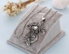 Sons of Anarchy Alloy Skeleton Pendant Necklace Chain UK