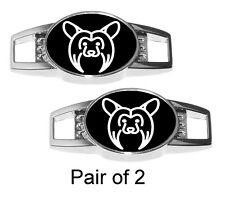 Chinese Crested Dog Charms for Shoelaces or Paracord Bracelet