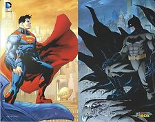 SUPERMAN & BATMAN COMIC CON BOX LITHO/PHOTO PRINT MINT BRAND NEW 50