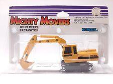 Vintage 1988 ERTL Mighty Movers John Deere Excavator Die Cast Metal Construction