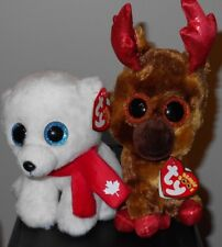 abff64d3a05 Ty Beanie Boos Set - MAPLE NANOOK NANUQ the 6  034  ~ Canada Exclusives ~  NEW MWMTS