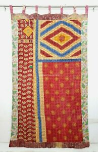 Indian quilt Hippy Fusion curtain Indian curtain Boho Cotton curtain Reversible