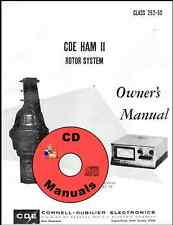 Cde Ham-Ii / Cd-44 Cd Owner's Manual Antenna Rotor Rotator Book on Cd