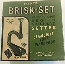 New listing The New Brisk Set Rhinestone Sequin Nailhead Setter In Box