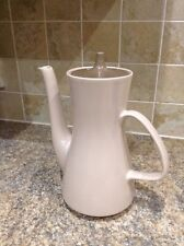 POOLE POTTERY TWINTONE MUSHROOM & SEPIA COFFEE POT