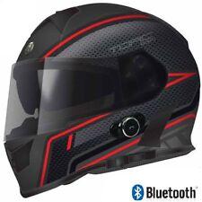 Bluetooth Motorcycle Helmet TORC T14 Full Face Dual Visor Red Scramble