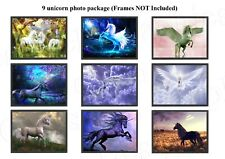 Unicorn Mythical Pegasus Prints 9 types available Photo Poster ONLY Wall Art A4