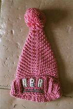 bonnet à pompon tricot rose NAPAPIJRI GEOGRAPHIC taille 2 (S) TOUT NEUF