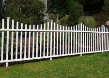 Portable Dog Fence Outdoor Pet White Vinyl Garden No Dig Corner Picket Large NEW