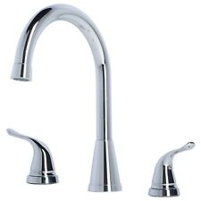 Contemporary Bathroom Widespread Vanity Sink Faucet with Pop-Up Drain Chrome