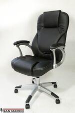 Poltrona ufficio direzionale sedia girevole con ruote per studio molto imbottita