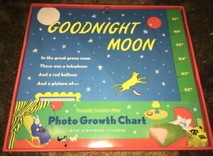 "*GOODNIGHT MOON* Photo Keepsake 47"" Growth Chart Hardcover w/Storybook Stickers"
