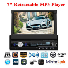 "HD 7"" Car Dash Stereo MP5 Player RDS FM Radio BT USB AUX Head Unit Touch Screen"
