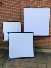 3 x Portable Mobile Projector Pull Up Screens & Stands Bundle Carry Large Medium