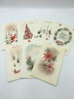 Vtg MCM Atomic Lot 14 Unused Christmas Cards 50s 60s Ornaments Glitter No Env.