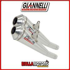 73401GX+70501CT TERMINALI GIANNELLI GX-ONE DUCATI MONSTER 696 2008-2014 NICHROM/