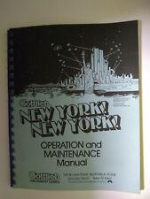 "Original Gottlieb ""New York New York"" Arcade Game Instruction Manual"