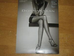 New DONNA KARAN Signature OB108 Ultra Sheer Control Top Pantyhose SMALL Nude
