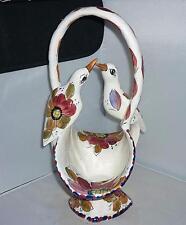 Grandi Insolito italiano Ceramica Decorativa Uccello Posy VASO CESTO FRUTTA 39cm