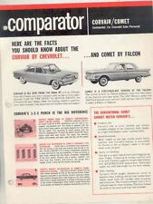 1960 Chevrolet Corvair vs Mercury Comet Salesman's Brochure wt0120-4HORUM