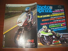 MOTOSPRINT 1981/37 PROVA YAMAHA XS 400 SE SPECIAL PUBBLICITA DUCATI PANTAH 500