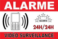 Panneau Alarme//Pancarte Alarme 225 x 150 mm en PVC Protection par t/él/ésurveillance Intervention sur site 24H//24H
