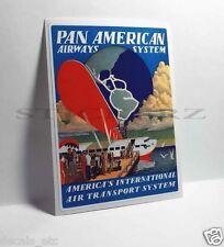 PAN AMERICAN Airways Vintage Style Travel Decal / Vinyl Sticker, Luggage Label